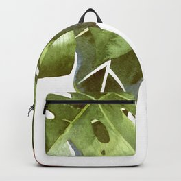 Nature, Tropical Floral Watercolor Backpack