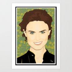 Emily Deschanel Art Print