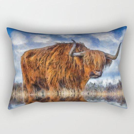 Meadow Bull Rectangular Pillow