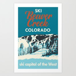 Beaver Creek Vintage Ski Poster Art Print