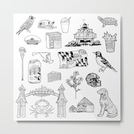 Maryland Flash Sheet Metal Print