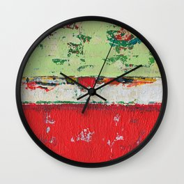 Dixon Red Green Abstract Painting Print Wall Clock