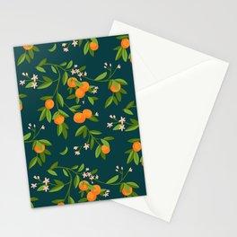 Citrus Tree - Navy Stationery Cards