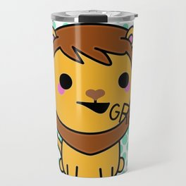 Aki the Ferocious Kawaii Lion Travel Mug