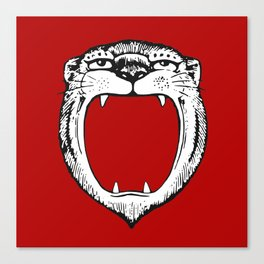 Tiger Head Red Canvas Print