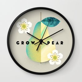 Grow a Pear Wall Clock