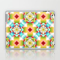 Retro Ombre Flowers Laptop & iPad Skin