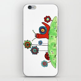 Summer Joy - Abstract Snail and Flowers iPhone Skin