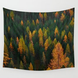 The Evergreens (Color) Wall Tapestry