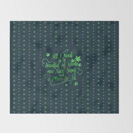 Weed-poetry Throw Blanket
