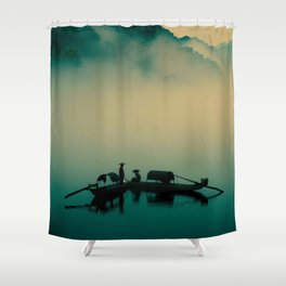Junk ship Chinese Boat Shower Curtain
