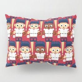 Baseball Red, White and Blue - Super cute sports stars Pillow Sham
