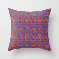 persian Throw Pillows featuring Persian by gretzky