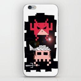 Daredevil and Elektra space invaders iPhone Skin