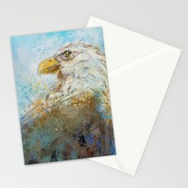 Expressive Bald Eagle Stationery Cards