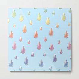 A Rainbow of Raindrops Metal Print