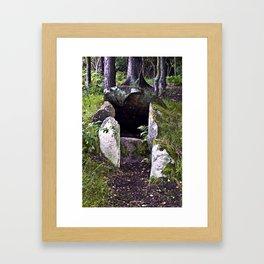 Megalithic Grave in Henneby in Denmark - Westjutland Framed Art Print