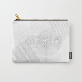 Explorer White and Grey Carry-All Pouch