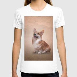 Drawing Dog breed Welsh Corgi T-shirt