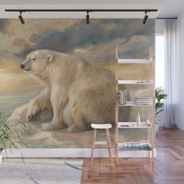 Polar Bear Rests On The Ice - Arctic Alaska Wall Mural