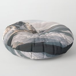 Stokksnes Icelandic Mountain Beach Sunset - Landscape Photography Floor Pillow
