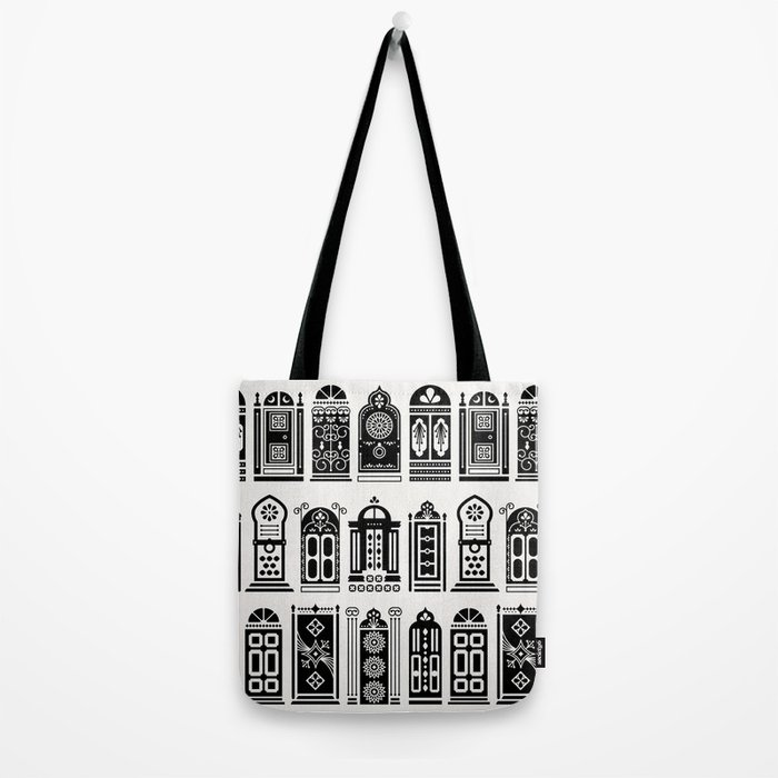 Moroccan Doors – Black Palette Tote Bag