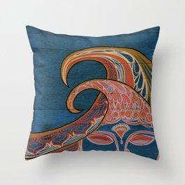 Zen Waves Surf Art by Lauren Tannehill Art Throw Pillow