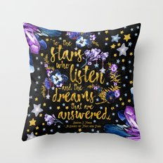 A Court of Mist and Fury - To The Stars Throw Pillow