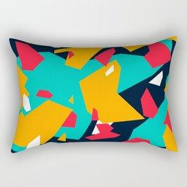Red\Orange\Light Blue\White Geometric camo Rectangular Pillow
