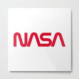 NASA worm logo Metal Print
