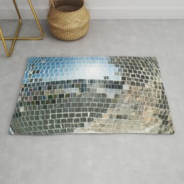 Mirrors discoball Rug