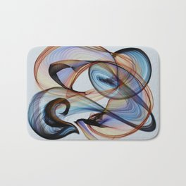 Bird Flame Blue Bath Mat