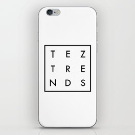 Tez Trends Logo Collection iPhone Skin