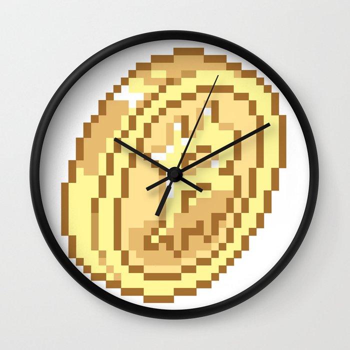 Bitcoin Pixel Art Wall Clock by bankaire   Society6