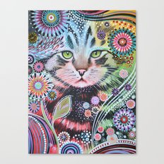 Abstract Cat Art - Penny Canvas Print