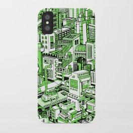 City Machine - Green iPhone Case