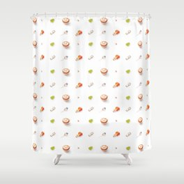 Icing Cookie Pattern_Bright Shower Curtain