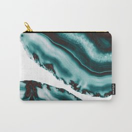 Turquoise Brown Agate #1 #gem #decor #art #society6 Carry-All Pouch