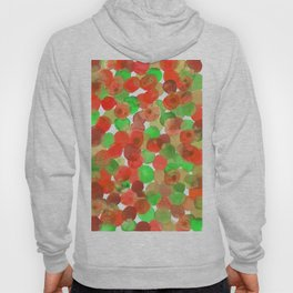 Watercolor Circles - Red and Green Hoody