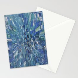 Abstract blue pattern 5 Stationery Cards