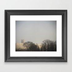 Foggy Castle Framed Art Print