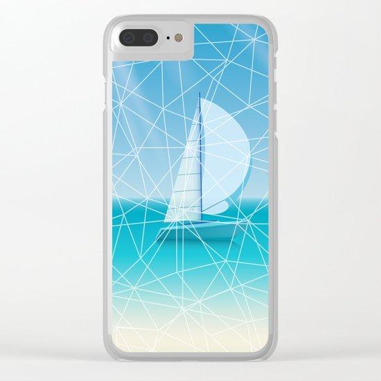 Geometric sea Clear iPhone Case