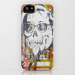 Skull Sanders Distress iPhone Case