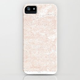 San Guillermo, CA from 1943 Vintage Map - High Quality iPhone Case