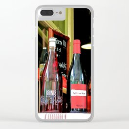 Drinking Wine In Barcelona Clear iPhone Case