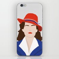 agent carter iPhone & iPod Skins featuring Agent Carter Vector by Missiieey