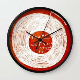 you are what you listen to, RED Wall Clock