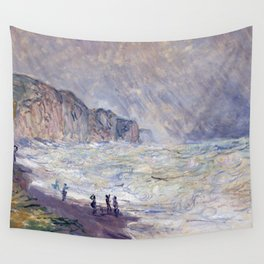 1897-Claude Monet-Heavy Sea at Pourville-73 x 101 Wall Tapestry