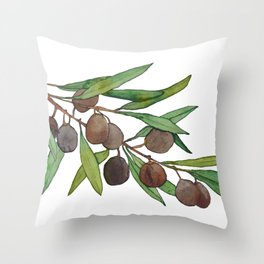 Olive leaf Throw Pillow