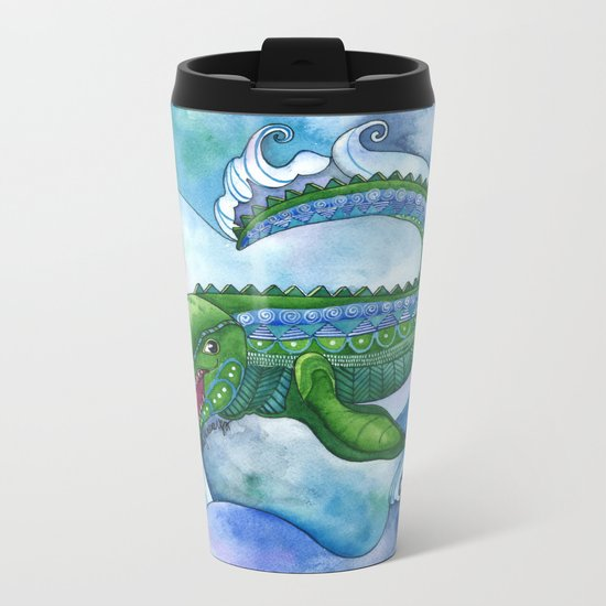 Mervyn the Marvelous Mosasaurus Metal Travel Mug